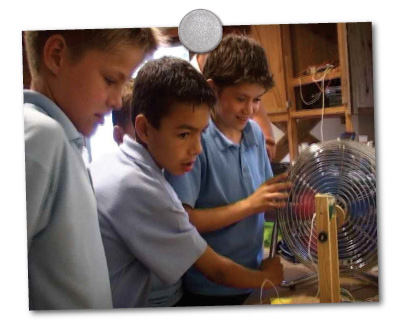 teaching about wind power in school
